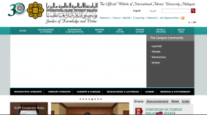 International Islamic University Malaysia website screen shot