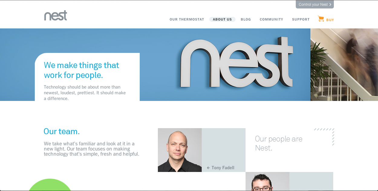 The About Page of Nest